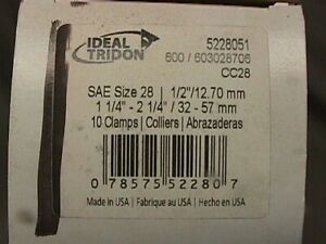 Ideal Tridon 6706550 Hose Clamps Pack 25 3//8-7//8 Stainless Steel