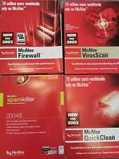 McAfee Virus Pro, Firewall, Quick clean, Spamkiller