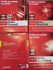 McAfee Virus Pro, Firewall, Quick clean, Spamkiller