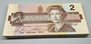 Canada 1986 Two Dollar Banknotes $2 Bill Changeover EGR Uncirculated Consecutive