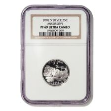 USA Mississippi State Quarter 2002 S Silver Proof NGC PF 69 Ultra Cameo