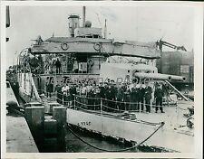 1914 World War I Shallow Water Fighting Ship Original News Service Photo