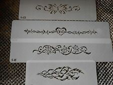 Airbrush Temporary Tattoos Stencil Set #40 Butterfly Bands New Island Tribal!