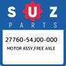 27760-54J00-000 Suzuki Motor assy,free axle 2776054J00000, New Genuine OEM Part
