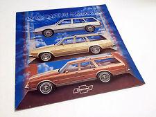 1982 Chevrolet Cavalier Malibu Caprice Wagons Brochure