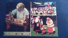 Schöne ältere AK Mora Provinz Dalarna Volksfest Trachten ungelaufen um 1975 sk4