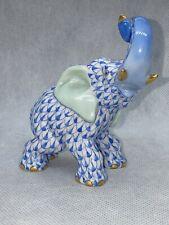 Herend Fishnet Figur Blau LIMITED EDITION Blau