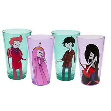 New Official Adventure Time - Gender Swap Characters Pint Glasses 4 Pack Set
