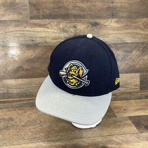 New Era Charleston RiverDogs MILB 5950 USA Fitted Hat SZ 7 3/8 Blue Grey