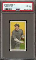 Rare 1909-11 T206 Rube Geyer Tolstoi Back St. Louis PSA 4 VG - EX Low Population
