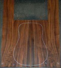 Figured Black Walnut Acoustic Guitar Back And Side Sets