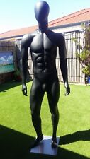 NEW LifeLike Male w. MUSCLE Mannequin w. EGG HEAD Shop Equipment Mannequins