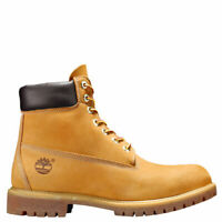 "Timberland US 8 - 12 Womens Classic 6"" Premium WP Black Gray Wheat Leather Boots"