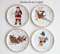 NEW Williams-Sonoma 'Twas The Night Before Christmas Appetizer Plates MIXED S/4