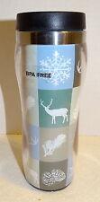 WINTER SCENE Deer Insulated Travel Mug Tumbler from Kohl's...BPA Free...NEW