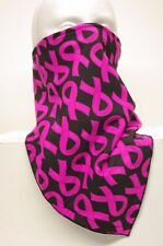 Black Pink Breast cancer fleece motorcycle ski mask fierce face protection