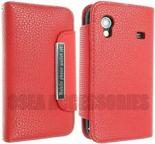 Samsung Galaxy ACE S5830 Leather Case Cover Pouch Sleeves Wallet Flip Skin Back