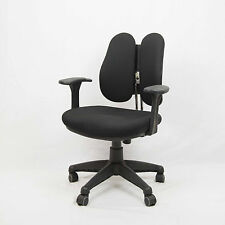 Brand New Premium Korean Fabric Chair in Black without Headrest