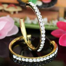 Gold Plated Hoop Earrings use Swarovski Crystal SE006