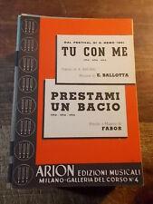 """SPARTITO SANREMO 1961  """"TU CON ME"""" + """"PRESTAMI UN BACIO"""""""