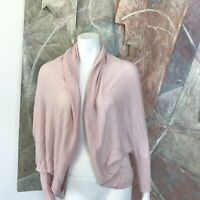 Nordstrom Pale Blush Pink Shell Open Front Sweater One Size