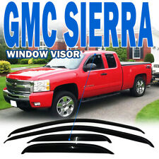Fits 07-13 Chevy Silverado GMC Sierra Extended Cab Window Visors 4Pc