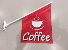 Coffee Wall Flag Double Sided Print VINYL | 60cm x 40cm | FREE POSTAGE & GST INV
