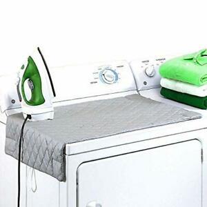 """Ironing Blanket, Magnetic Mat Laundry Pad, 33""""x 18"""", Gray, Washer Dryer Heat"""