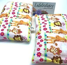 Summer Sale! Two Lavender Microwave Heating Pads With Flax, BooBoo Saks, Safari