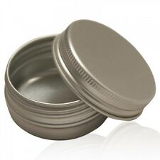 10 x 100ml Aluminium Tin Jar pots Containers With Screw Lids