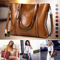 Fashion Women Leather Bags Handbag Ladies Tote Shoulder Crossbody Lager Bag