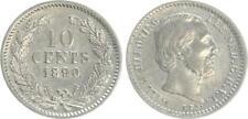 Niederlande 10 Cent 1890, Silber Wilhelm, vz