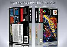AXELAY. PAL VERSION. Box/Case. Super Nintendo. BOX + COVER PRINTED. (NO GAME).