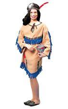 Native American Princess Costume Indian Navajo Child Small 4-6 Girl's Fringe New