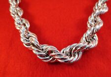 Heavy White Gold Plated Rope Chain 26 Inch Hip Hop 20Mm 14Kt
