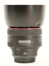 Canon EF 85mm F/1.2 L II USM Lens MINT (except hood)