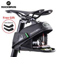 ROCKBROS Cycling Bicycle Waterproof Bike Rear Seatpost Saddle Bag Tail Bag Black