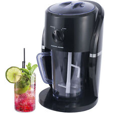 Electric Ice Crusher Shaver Slushie Machine Snow Cone Smoothies Cocktails Black