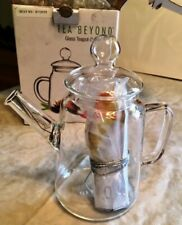 Tea Beyond® Mouth Blown 16 Oz. Glass Teapot Duo Gfs2001-1 w/2 Blooms-Nib