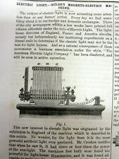 1867 Scientific American newspaper wth INVENTION of an ELECTRIC LIGHT pre EDISON