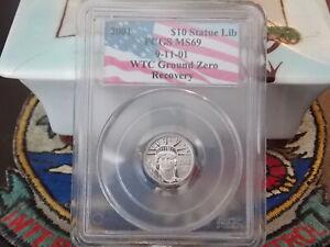 2001 MS69 $10 Platinum Eagle PCGS WTC World Trade Center 911 recovery