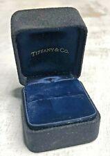 vtg tiffany & co jewelry Ring presentation Velvet Black Blue box