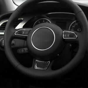 For Audi A4L/A6L/A3/Q3/Q5/Q7 Steering Wheel Carbon Fiber Stickers