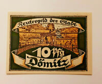 DÖMITZ REUTERGELD NOTGELD 10 PFENNIG 1922 NOTGELDSCHEIN (11842)