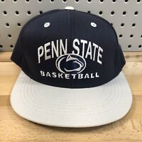 Vintage Penn State NCAA Basketball Navy Blue Snap Back Hat Top Of The World EUC