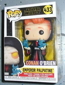 Custom Funko Pop Vinyl Figure Conan O'Brien as Emperor Palpatine # 433 Star Wars