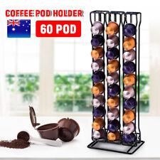 60 Coffee Pod Stand Nespresso Capsule Holder Chrome Tower Storage Rack AU Stock