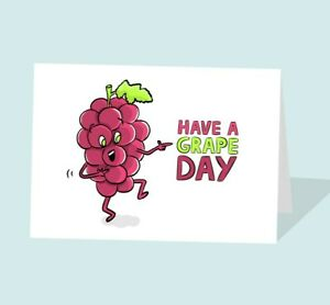Have A Great Day Card   Have a Nice Day   Funny Grape Card   Grapes   Cute Grape