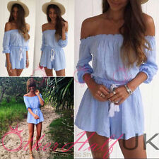 3/4 Sleeve Playsuits for Women