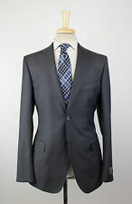 NWT BELVEST Charcoal Gray Twill Wool 2 Button Suit Size 56/46 R Drop 7 $3195